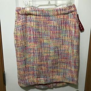 Merona Women's Size 4 Straight Pencil Tweed Skirt